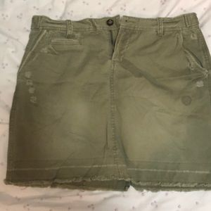 Old Navy Khaki Mini Skirt. New!